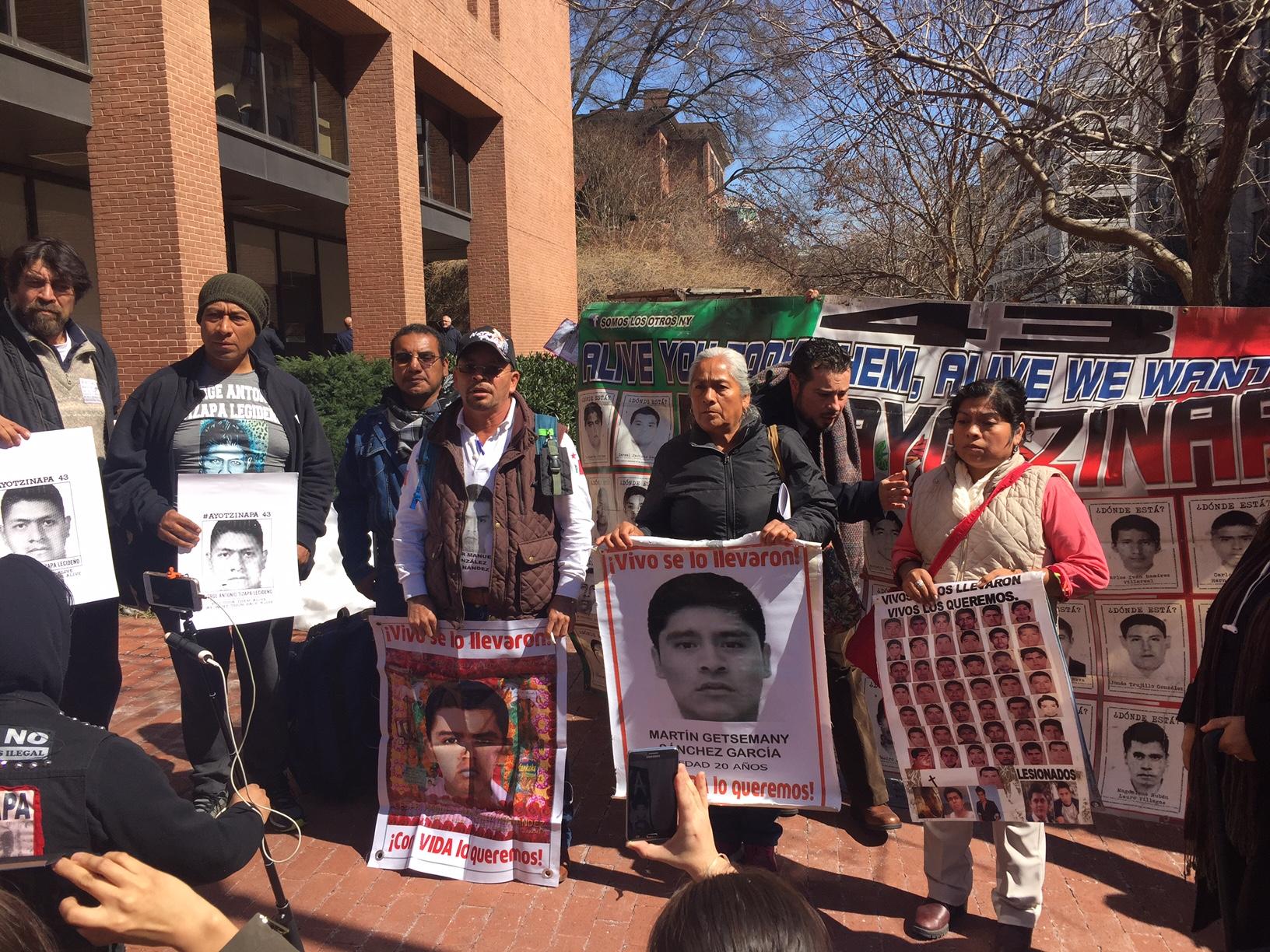 Ayotzinapa protest IACHR